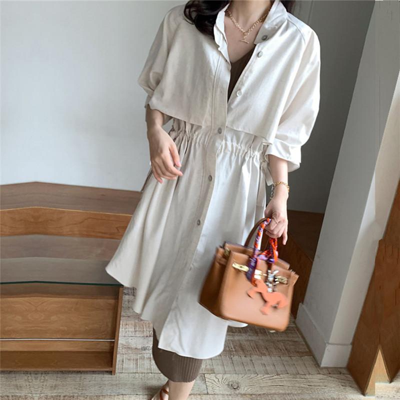 韓国 ファッション アウター コート 春 夏 カジュアル PTXK915  スタンドカラー ウエストシェイプ 羽織り ラフ オルチャン シンプル 定番 セレカジの写真13枚目