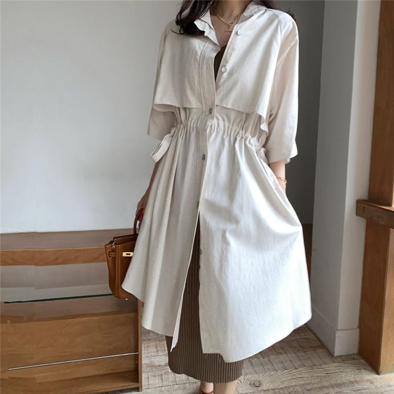 韓国 ファッション アウター コート 春 夏 カジュアル PTXK915  スタンドカラー ウエストシェイプ 羽織り ラフ オルチャン シンプル 定番 セレカジの写真18枚目