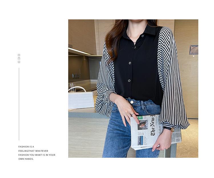 韓国 ファッション トップス ブラウス シャツ 春 秋 冬 カジュアル PTXL448  ボリューム袖 ドレープ オーバーサイズ オルチャン シンプル 定番 セレカジの写真7枚目