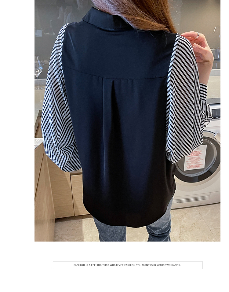 韓国 ファッション トップス ブラウス シャツ 春 秋 冬 カジュアル PTXL448  ボリューム袖 ドレープ オーバーサイズ オルチャン シンプル 定番 セレカジの写真12枚目