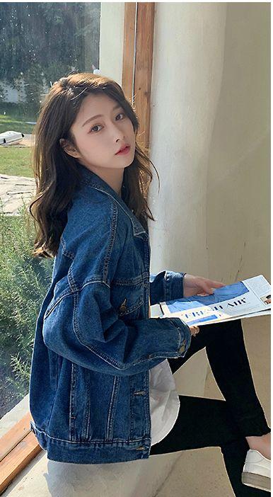 韓国 ファッション アウター ブルゾン 春 秋 冬 カジュアル PTXL525  オーバーサイズ キレイ目 プレーン 着回し オルチャン シンプル 定番 セレカジの写真9枚目