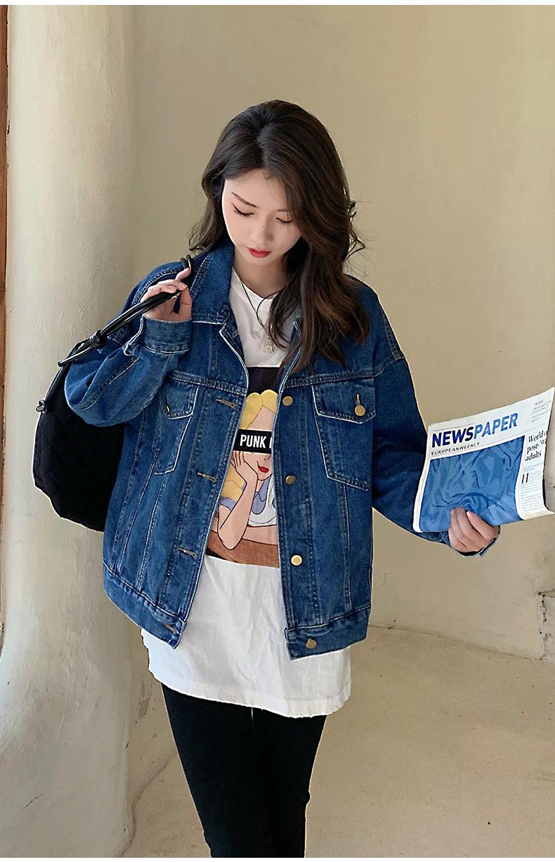 韓国 ファッション アウター ブルゾン 春 秋 冬 カジュアル PTXL525  オーバーサイズ キレイ目 プレーン 着回し オルチャン シンプル 定番 セレカジの写真19枚目