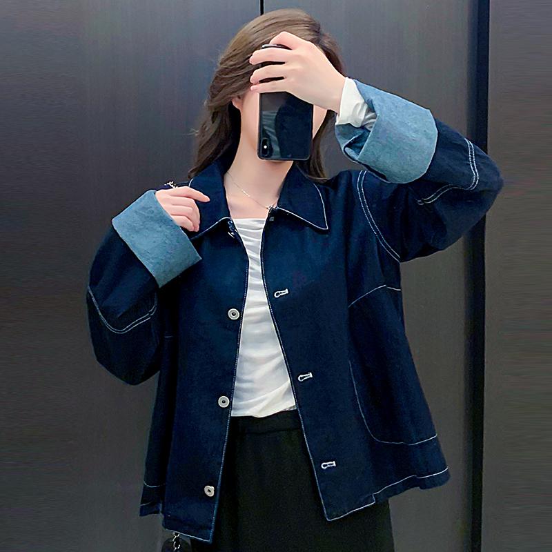 韓国 ファッション アウター ジャケット 春 秋 冬 カジュアル PTXL534  ステッチ オーバーサイズ キレイ目 ジャケット オルチャン シンプル 定番 セレカジの写真2枚目
