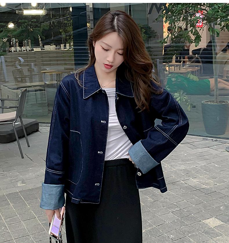 韓国 ファッション アウター ジャケット 春 秋 冬 カジュアル PTXL534  ステッチ オーバーサイズ キレイ目 ジャケット オルチャン シンプル 定番 セレカジの写真5枚目