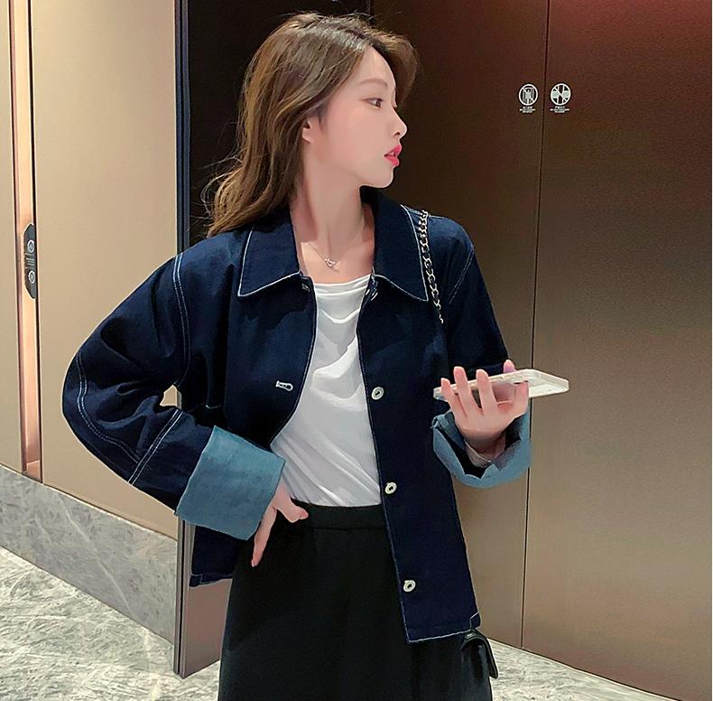 韓国 ファッション アウター ジャケット 春 秋 冬 カジュアル PTXL534  ステッチ オーバーサイズ キレイ目 ジャケット オルチャン シンプル 定番 セレカジの写真6枚目