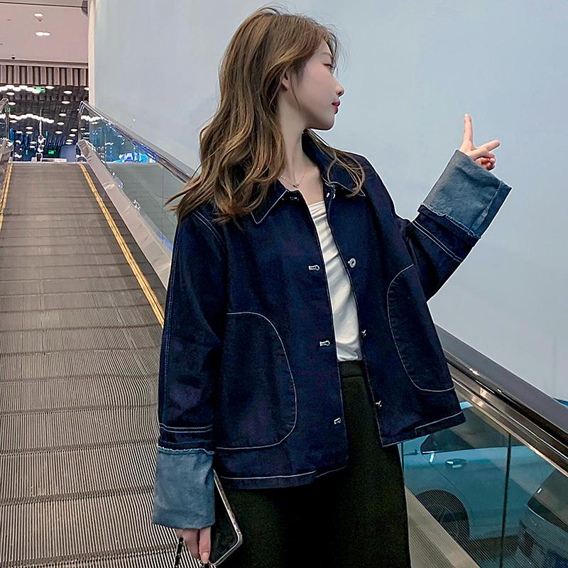 韓国 ファッション アウター ジャケット 春 秋 冬 カジュアル PTXL534  ステッチ オーバーサイズ キレイ目 ジャケット オルチャン シンプル 定番 セレカジの写真8枚目