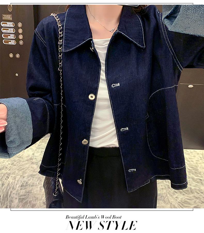 韓国 ファッション アウター ジャケット 春 秋 冬 カジュアル PTXL534  ステッチ オーバーサイズ キレイ目 ジャケット オルチャン シンプル 定番 セレカジの写真9枚目