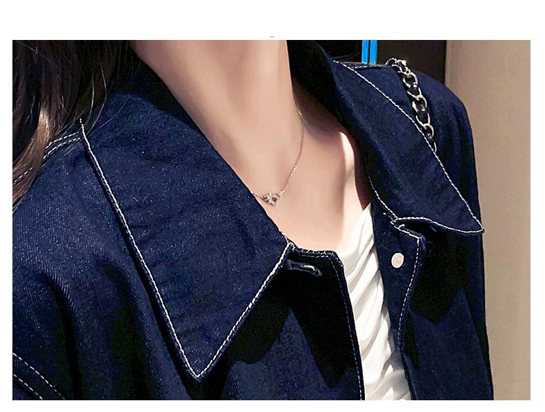 韓国 ファッション アウター ジャケット 春 秋 冬 カジュアル PTXL534  ステッチ オーバーサイズ キレイ目 ジャケット オルチャン シンプル 定番 セレカジの写真10枚目