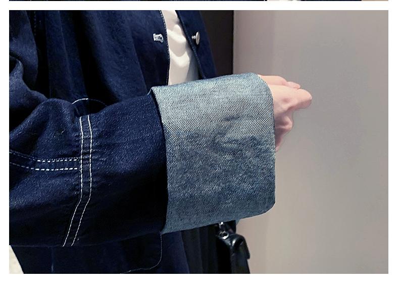 韓国 ファッション アウター ジャケット 春 秋 冬 カジュアル PTXL534  ステッチ オーバーサイズ キレイ目 ジャケット オルチャン シンプル 定番 セレカジの写真11枚目
