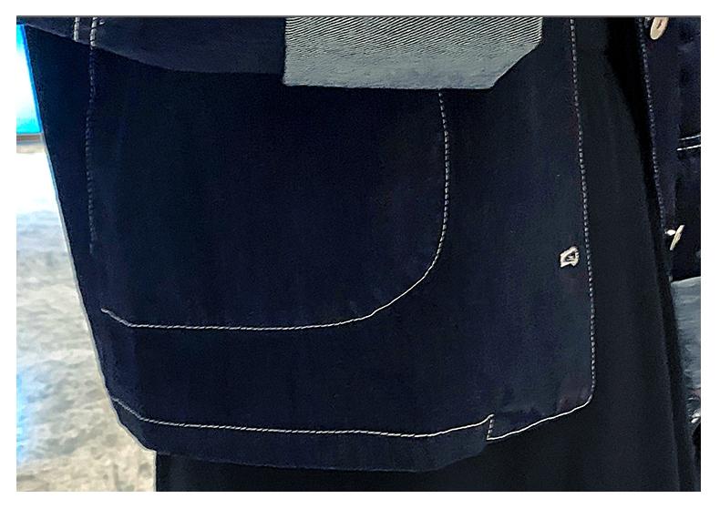 韓国 ファッション アウター ジャケット 春 秋 冬 カジュアル PTXL534  ステッチ オーバーサイズ キレイ目 ジャケット オルチャン シンプル 定番 セレカジの写真13枚目