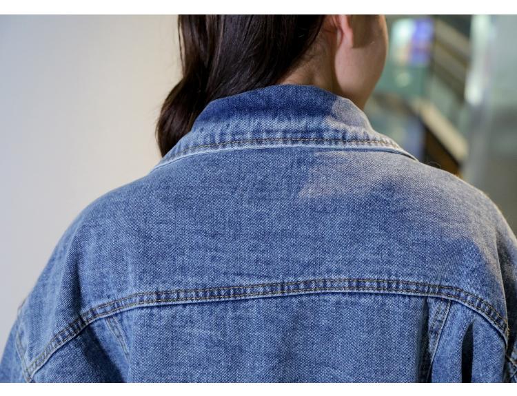 韓国 ファッション アウター ブルゾン 秋 冬 カジュアル PTXL553  オーバーサイズ デニム エコファー ドッキング オルチャン シンプル 定番 セレカジの写真13枚目